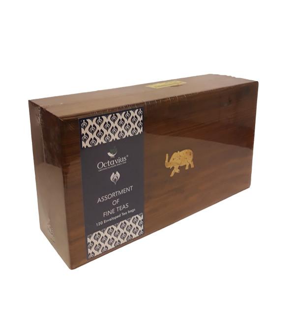 Assorted 120 Tea Bags In Wooden Box