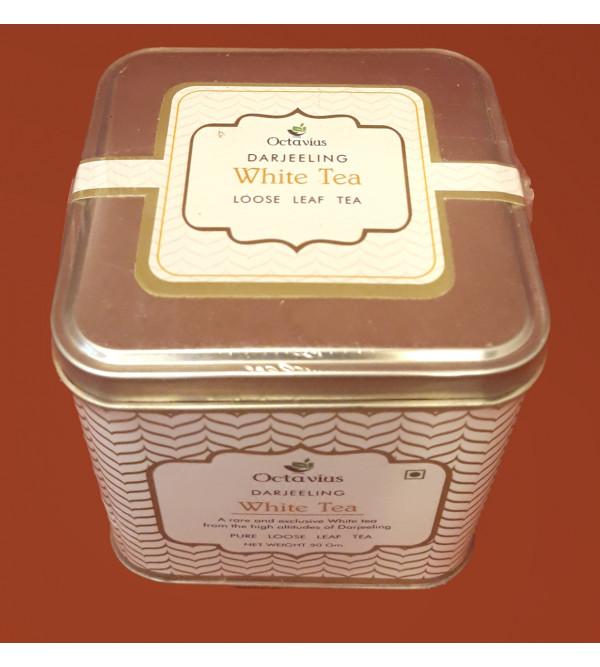 DARJEELING WHITE TEA SILVER NEEDLE IN  TIN BOX  50 GRAMS