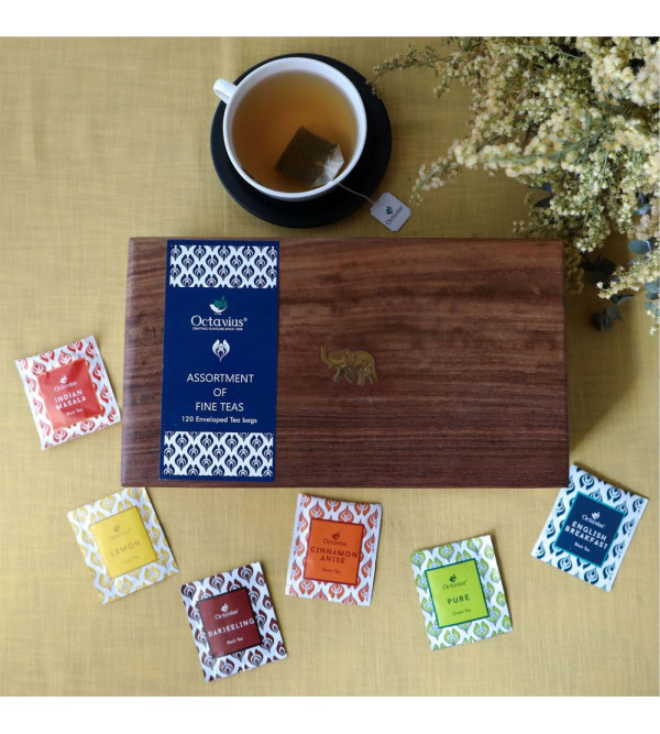Assorted 120 Tea Bags In Darkwood Caddy