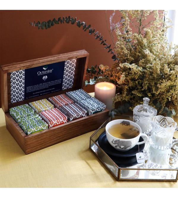 Assorted 120 Tea Bags In Darkwood Caddy