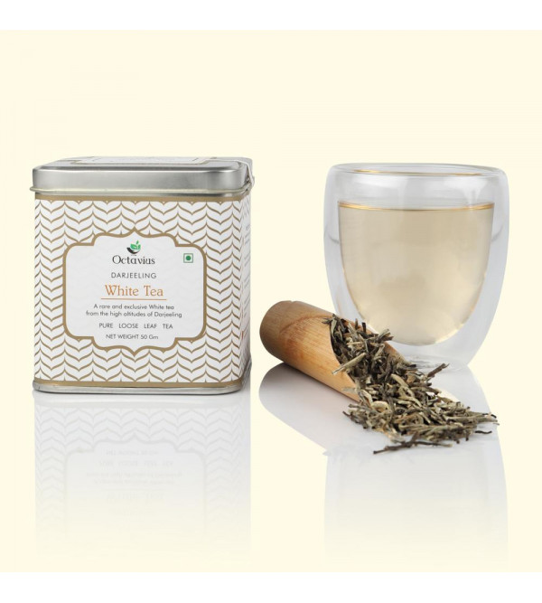 Darjeeling White Tea Silver Needle In  Tin Box  50 Grams