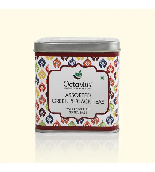 6 Assorted Tea Bags  In Gift Tin Box  25  Enveloped Tea Bags