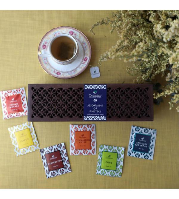 6 Assorted Tea Bags In Cutwork  Box60 Tea Bags