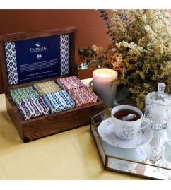Assorted Tea Flavors In Black  Green Tea Bags  In Wooden Gift Box  90 Tea Bags