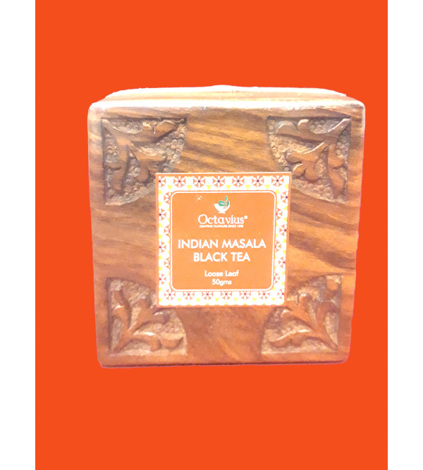 Indian Masala Chai In Wooden Box 50gm