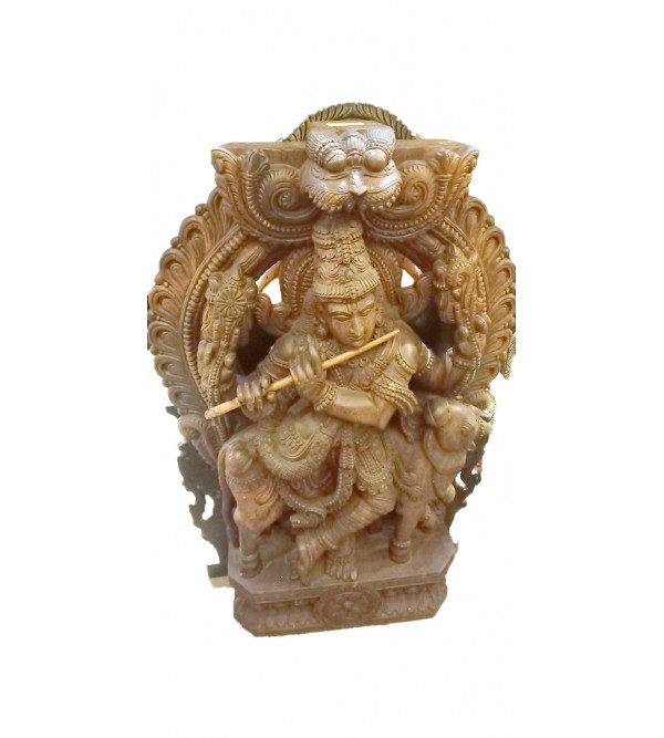 Krishna Handcrafted In Vaghai Wood Size 48 Inches