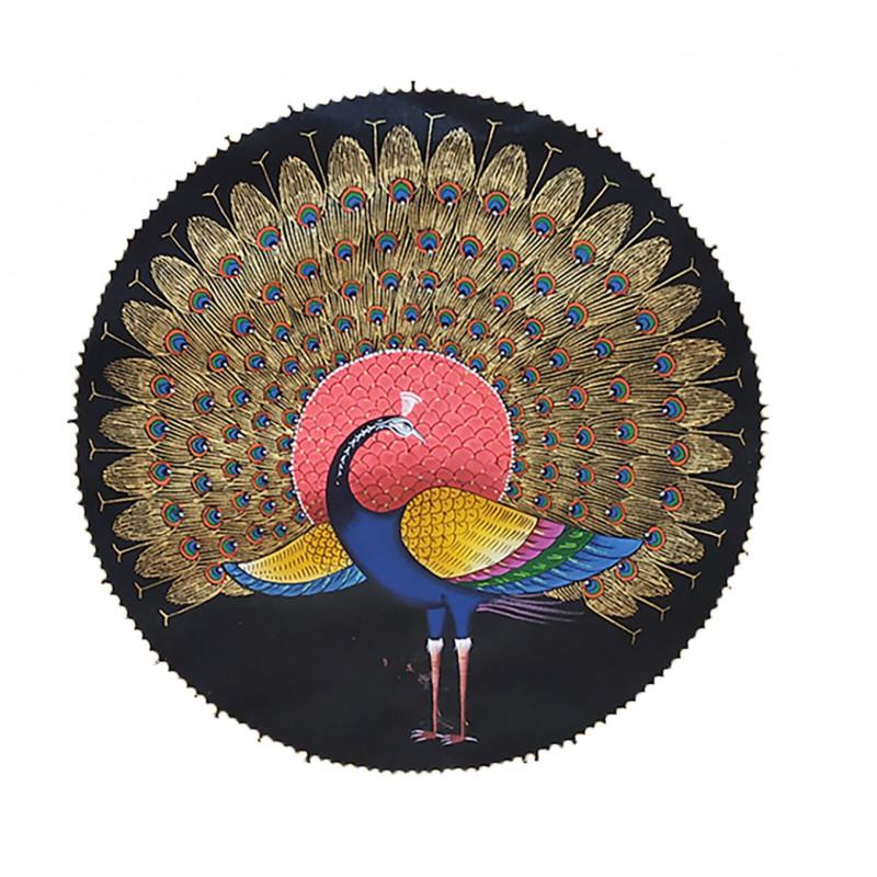 Traditional Peacock Handmade Painting