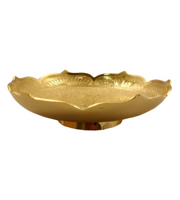 Handicraft Brass Gold Plated Bowl 7 Inch