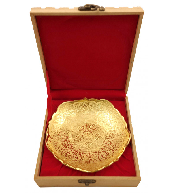 Handicraft Brass Gold Plated Bowl 5.75 INCH