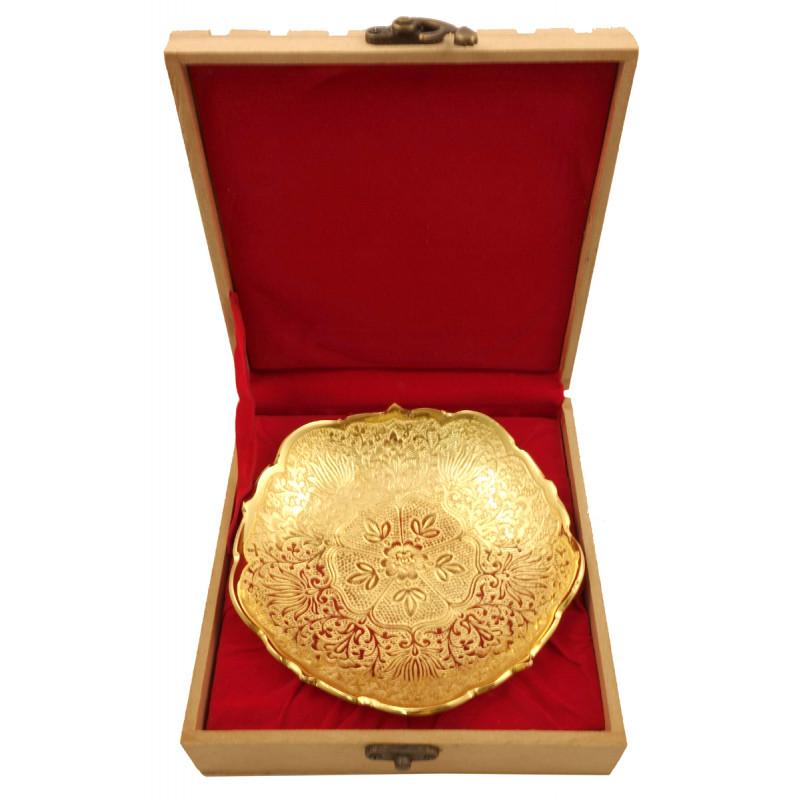Handicraft Brass Gold Plated Bowl 5.75 INCH
