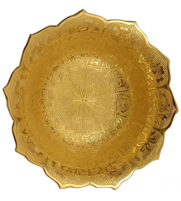 Handicraft Brass Gold Plated Bowl 6.5 Inch