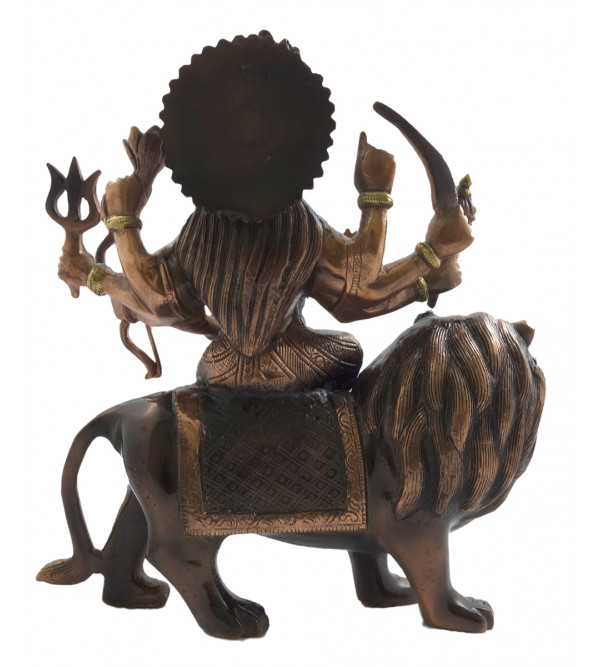HANDICRAFT DURGA COPPER BRASS FINISH 12 INCH