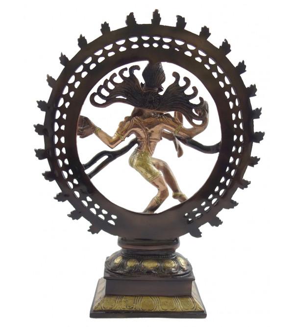 Handicraft Natraj  brass copper 2 tone 9 Inch