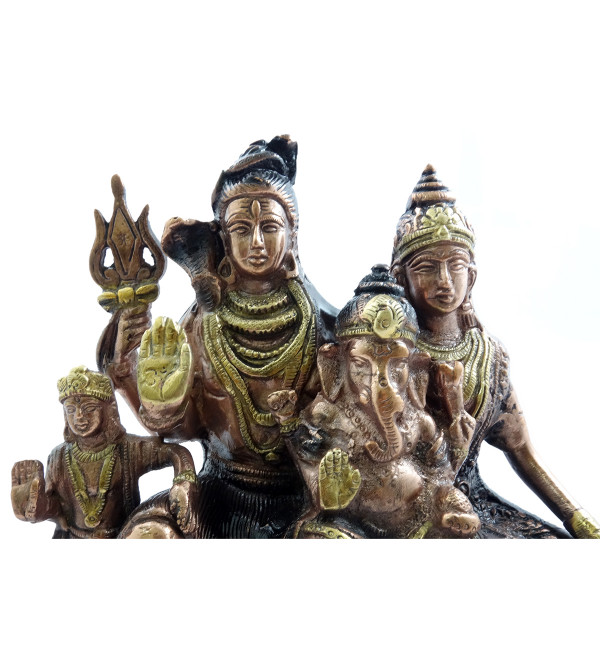 HANDICRAFT SHIV PARIVAR 8.75 INCH BRASS COPPER FINISH