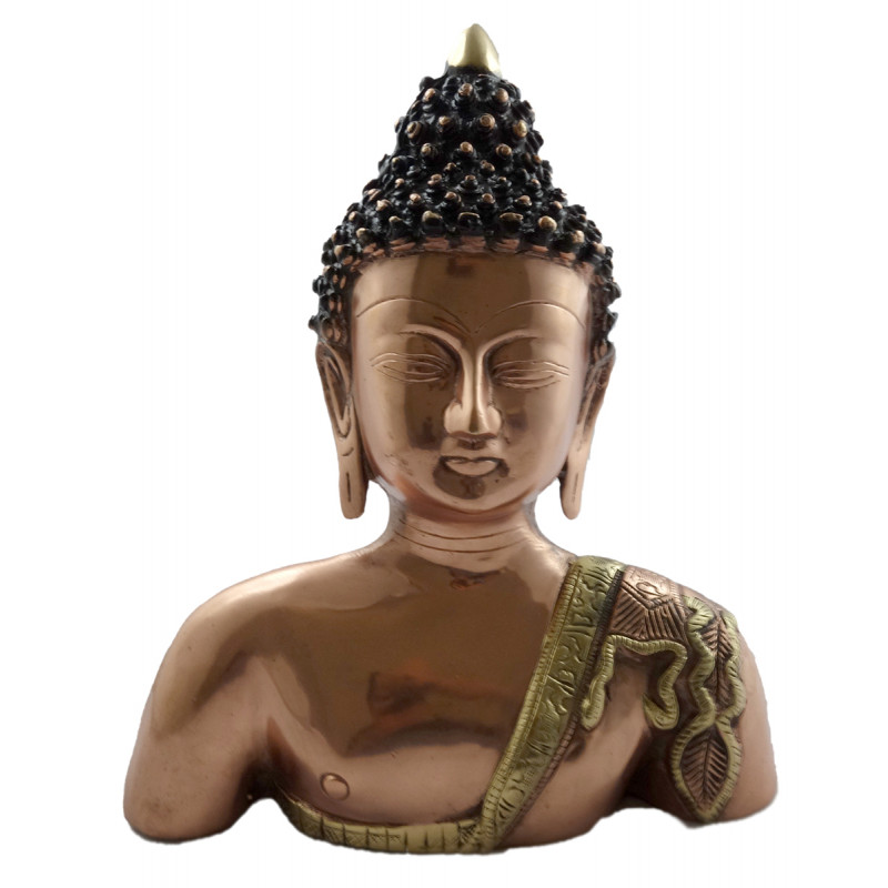 HANDICRAFT BUDDHA BODY 11 INCH BRASS COPPER FINISH