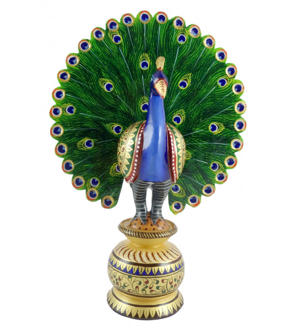 PAINTED  PEACOCK DANCING 3 INCH
