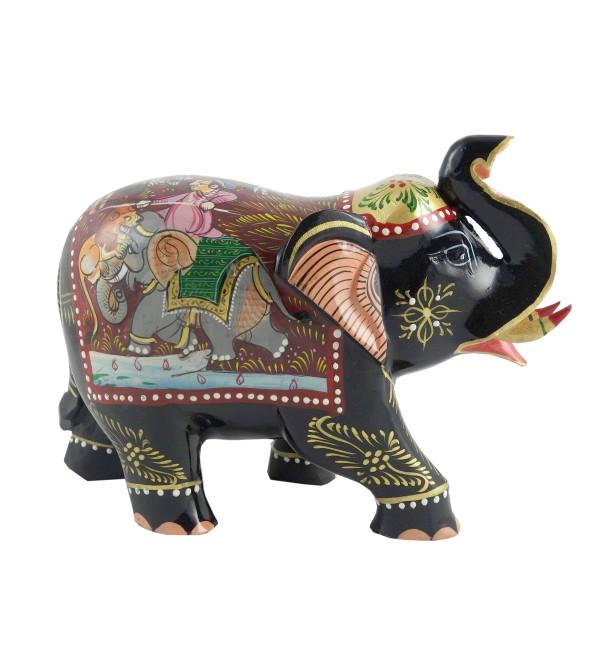 PAINTED ELEPHANT SHIKAR PTD 5 INCH