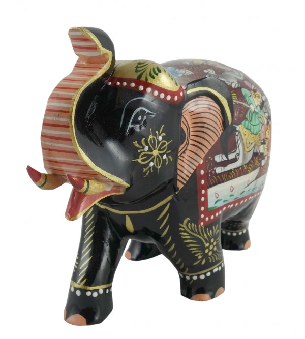 PAINTED ELEPHANT SHIKAR  6 INCH