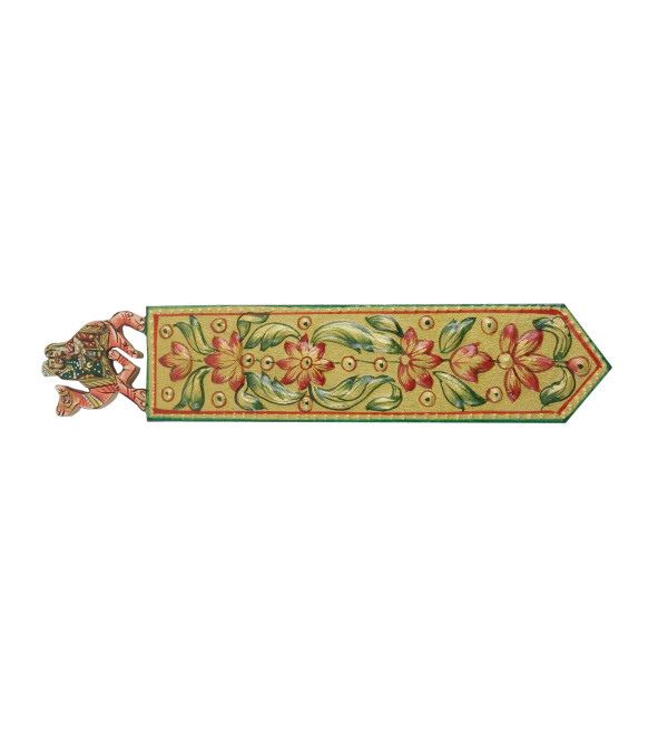 Kadamba wood Handcrafted and Hand painted Book Mark