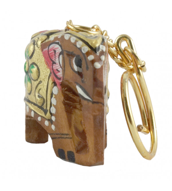 KEY CHAIN PAINTED KADAM WOOD 1 INCH