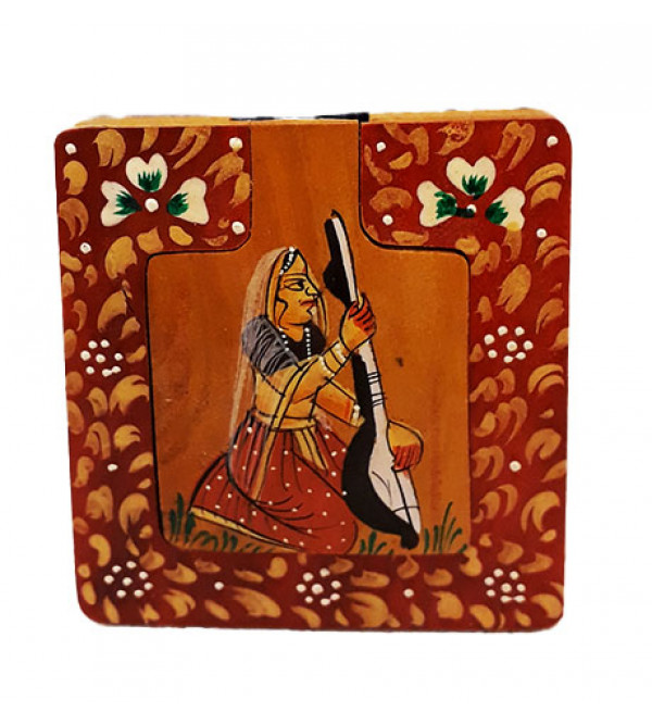 Kadamba wood Handcrafted and Hand Painted Mirror