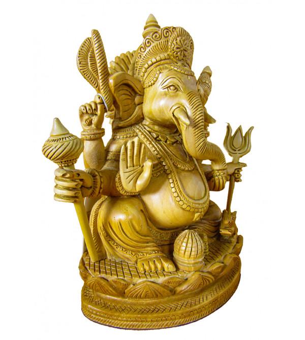 Ganesh Hand Carved Kadamba Wood Size 8 Inch