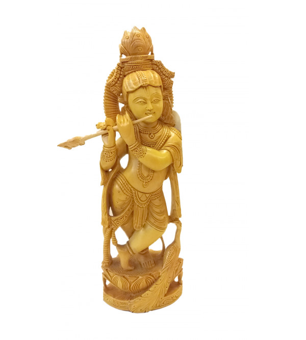GOD FIGURE CARVED KADAM WOOD14 inch