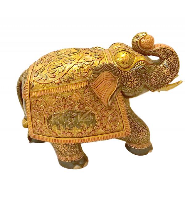 ELEPHANT PAINTED FINE KADAM WOOD 11 inch
