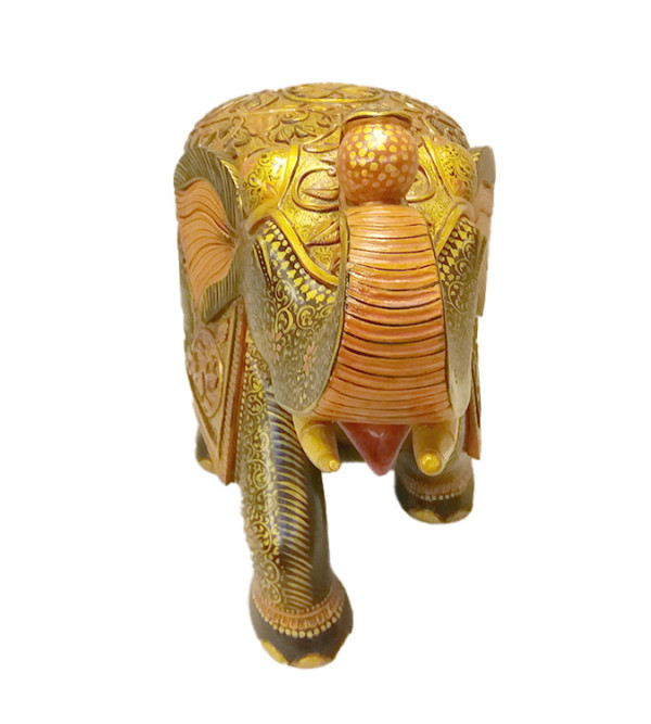 Kadamba Wood Carved and Handpainted Elephant
