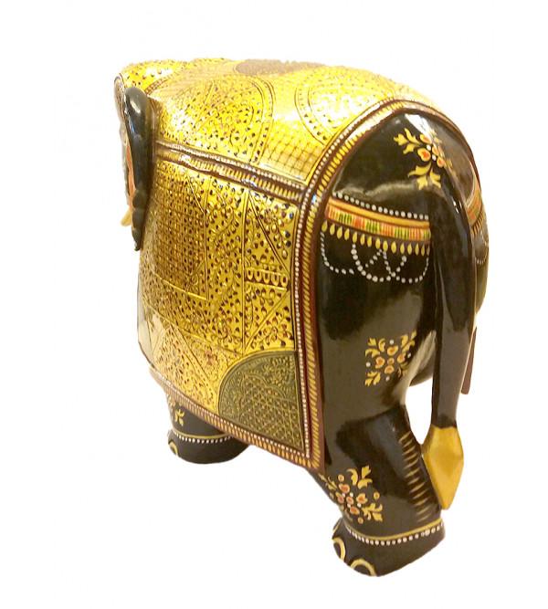 Kadamb Wood Carved and Handpainted Elephant