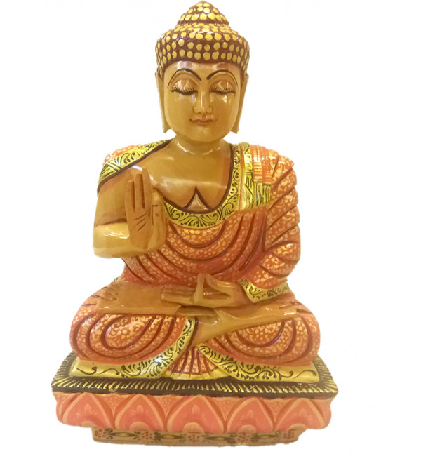 BUDDHA SITTING 10 inch PAINTED