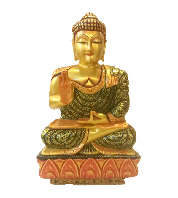 BUDDHA SITTING PAINTED 12 inch