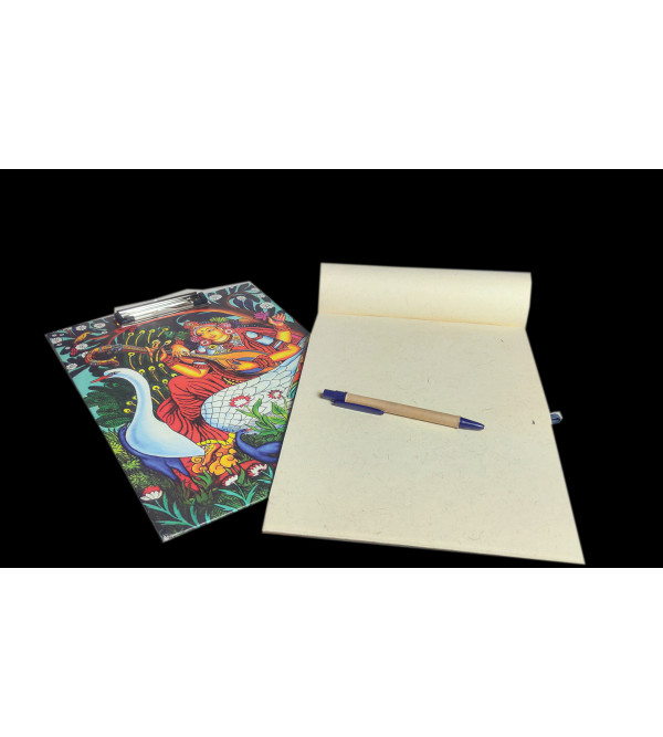 400421 CLIP BOARD WITH PEN ASSORTED COLOR AND DESIGNS