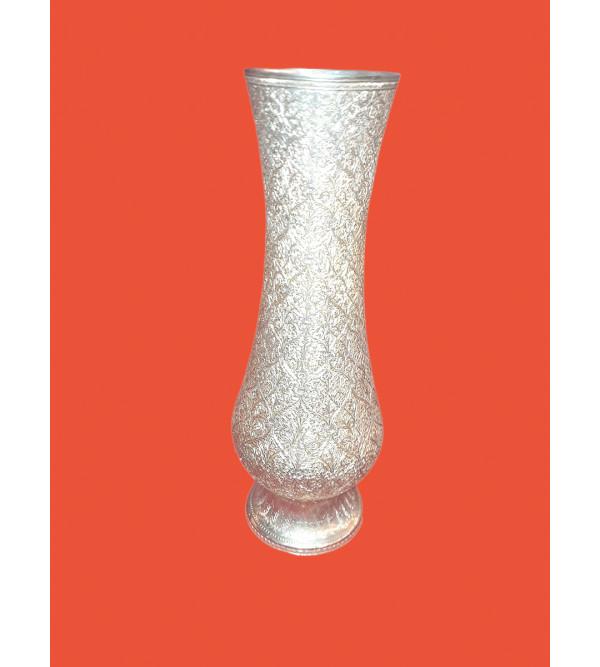 Handicraft Brass Flower Vase Gold Plated Badrum Fine Marori Work 10 Inch