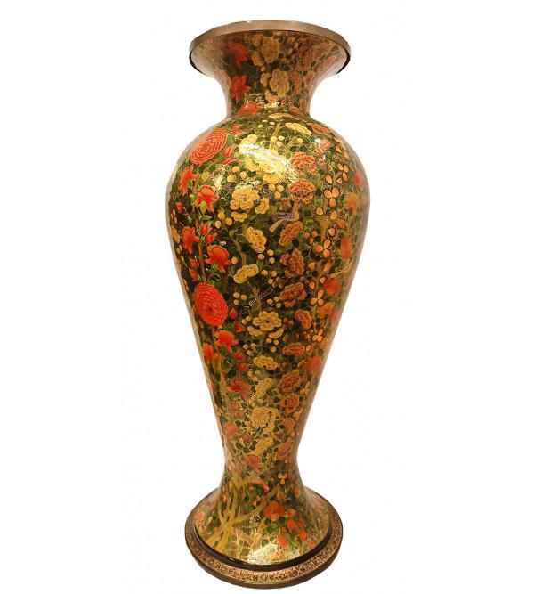 Papier Mache Handcrafted Flower Vase with Brass Lining