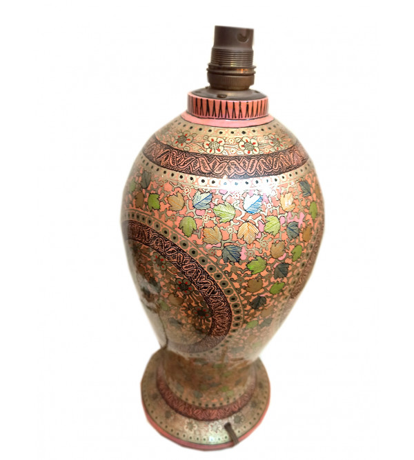 Papier Mache Handcrafted Lamp Base without Shade