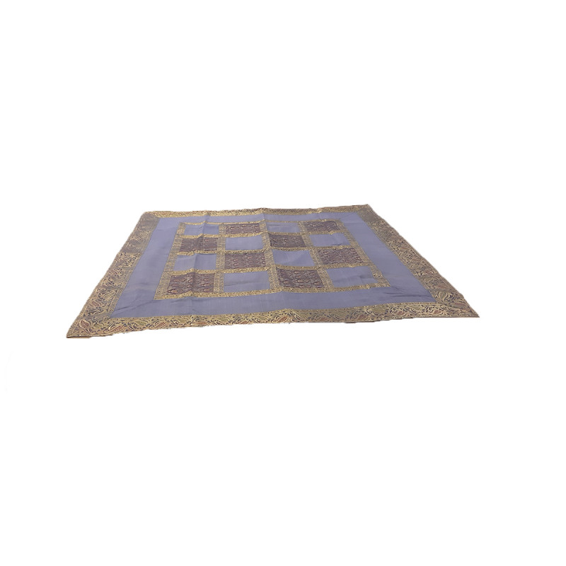 Silk Brocade Handwoven Table Cover Size 48x48 Inch