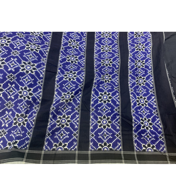 Andhra Ikat Telia Rumal Pure Cotton Handwoven Saree With Blouse