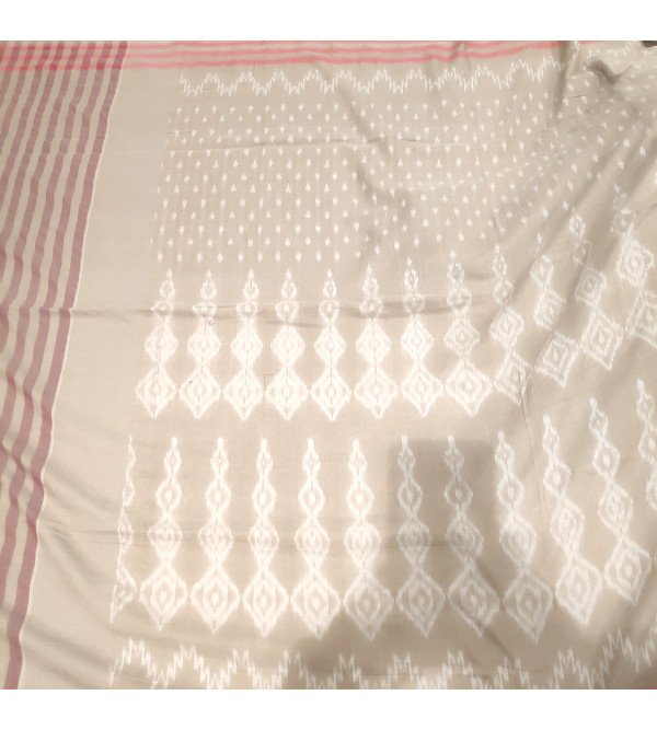 Andhra Ikat Pure Cotton Handwoven Saree With Blouse