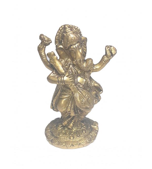 Ganesh Dancing Handcrafted In Brass