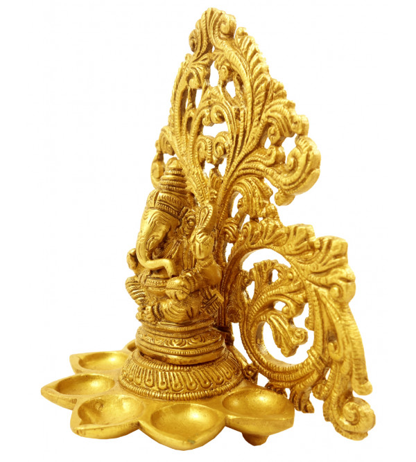 Handicraft Brass Ganesha Deeva 6.5 Inch