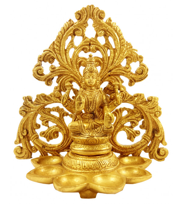 Handicraft Brass Laxmi Deeva 6.75 Inch