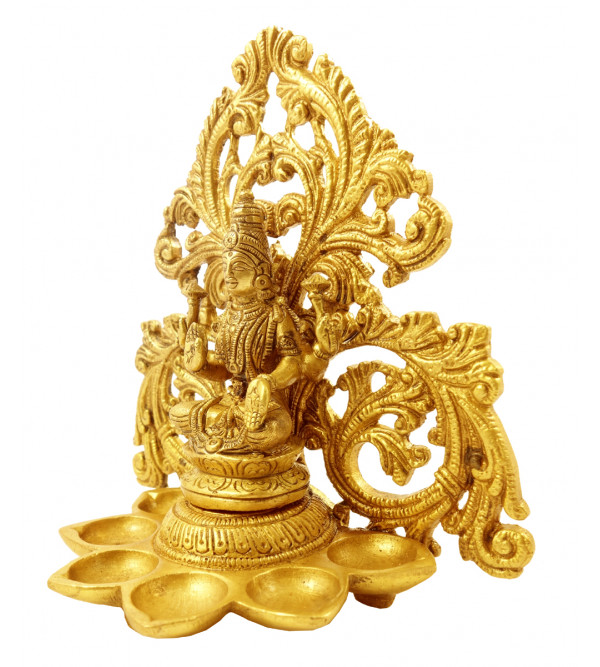 Handicraft Brass Laxmi Deeva 6.75 Inch