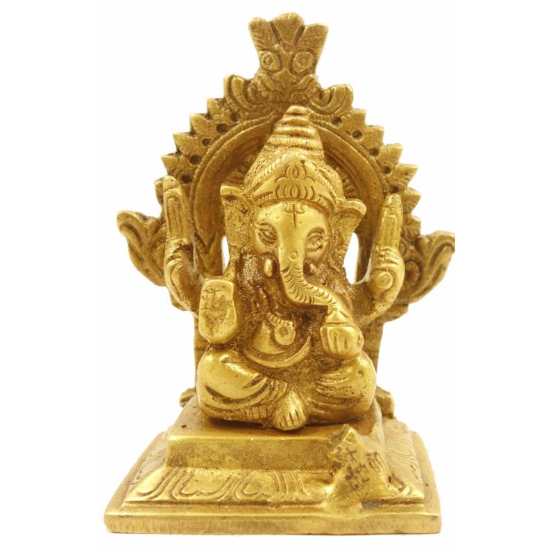 Handicraft Brass Sitting Ganesh 4 Inch