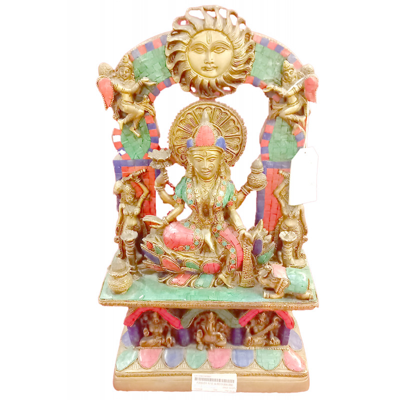 Lakshmi Darbar Handcrafted In Brass Size 19 Inches