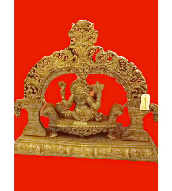 Ganesha Sitting Handcrafted In Brass Size 22 Inches