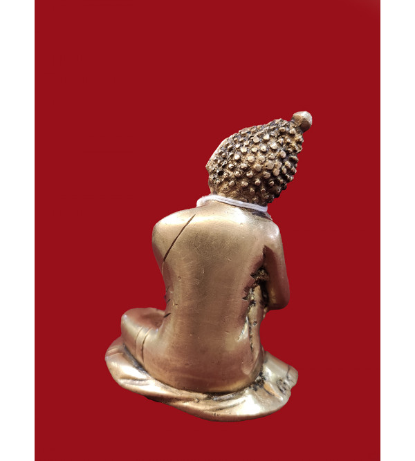 Brass Buddha Resting head on knee 3.75 inch