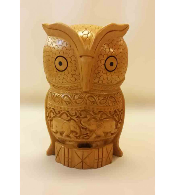 OWL CARVED 8 INCH