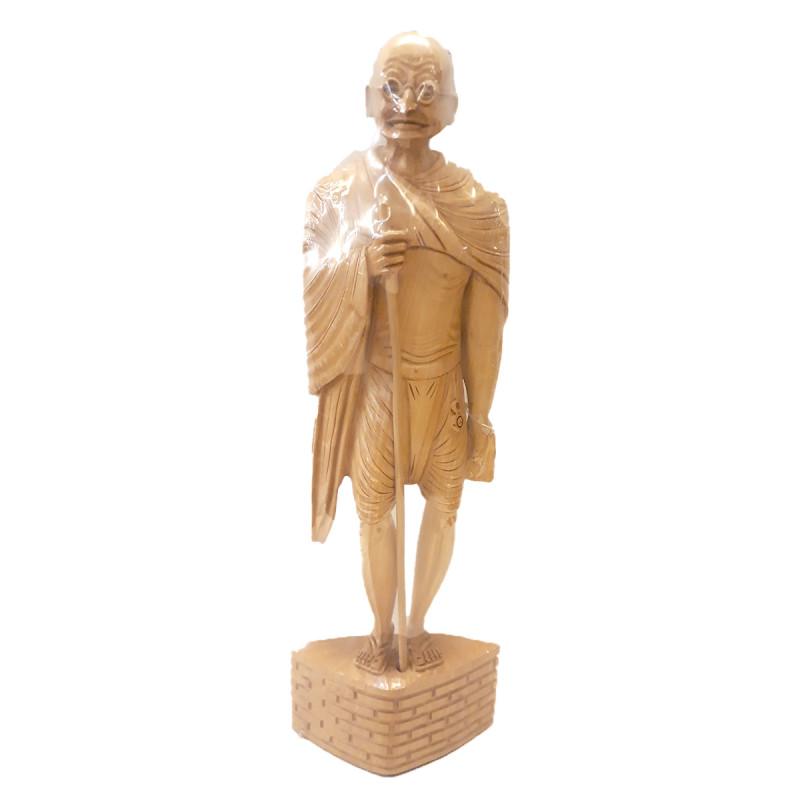 Kadamba Wood Handcrafted Standing Figure of Mahatma Gandhi