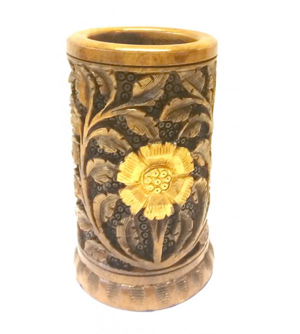 Kadamba Wood Handcrafted Pen Stand